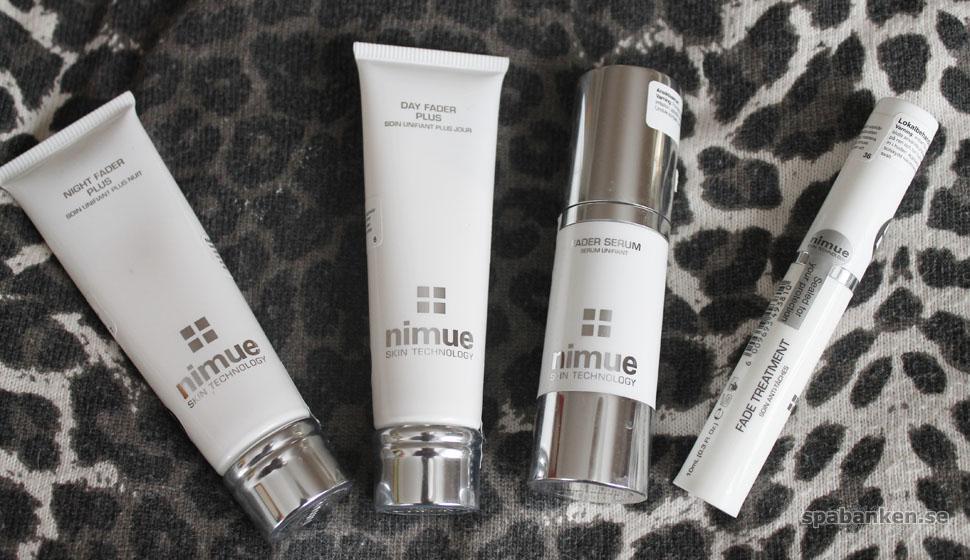 Jämnare hudton med Nimues fade-produkter