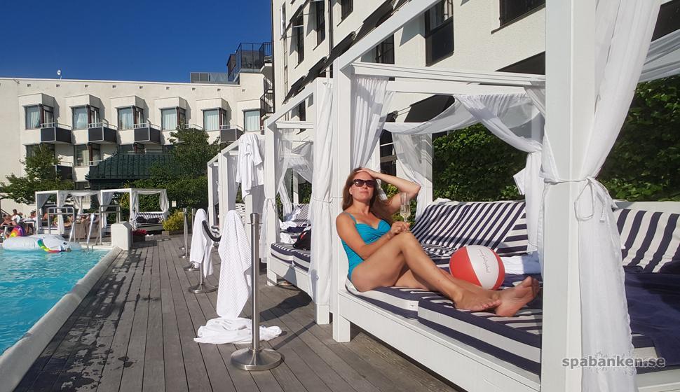Lazy afternoon vid poolen på Ystad Saltsjöbad
