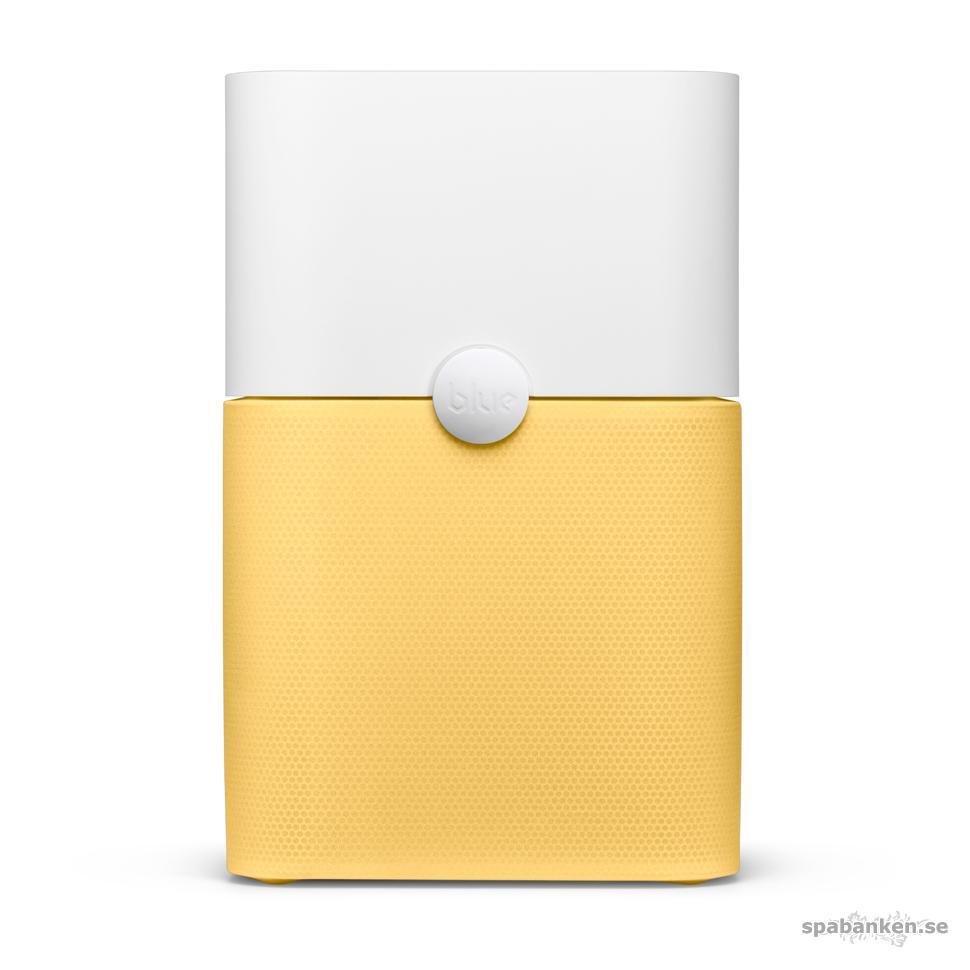 """Blueair i färgen """"buff-yellow"""" blir en energikick på hemmakontoret samtidigt som den ger renare inomhusluft."""
