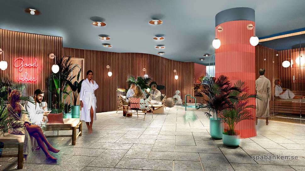 Vision av nya spaavdelningen på Näsby Slott