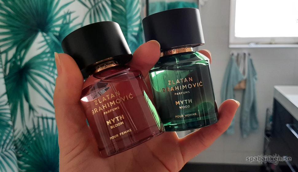 Myth Bloom och Myth Wood från Zlatan Ibrahimovic Parfums.