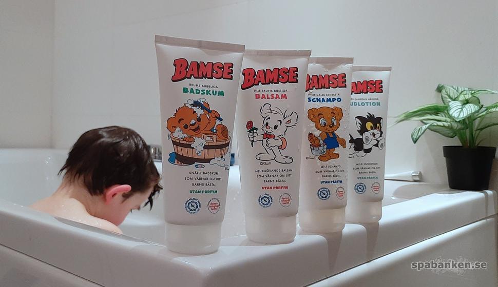 Mysig badstund med Bamses hudvårdsserie