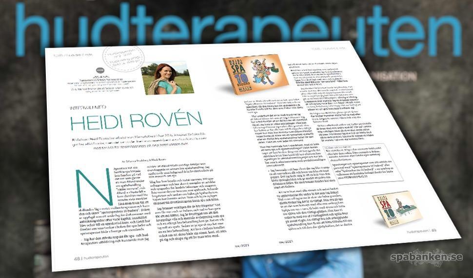 Tidningen hudterapeuten har i nr 2/2021 med en artikel-intervju med mig.