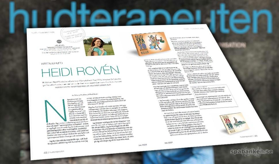 """Intervjuad i SHR:s medlemstidning """"hudterapeuten"""""""
